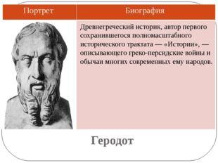 Геродот Древнегреческий историк, автор первого сохранившегося полномасштабног