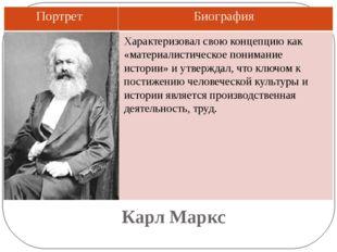 Карл Маркс Характеризовал свою концепцию как «материалистическое понимание ис
