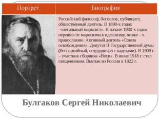 Булгаков Сергей Николаевич Российский философ, богослов, публицист, обществен