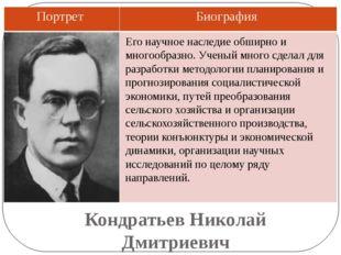 Кондратьев Николай Дмитриевич Его научное наследие обширно и многообразно. Уч