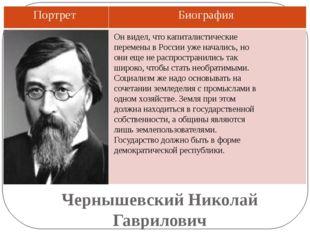 Чернышевский Николай Гаврилович Он видел, что капиталистические перемены в Ро