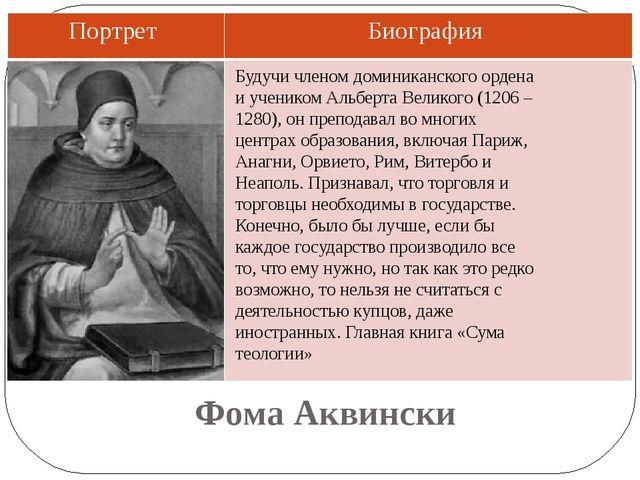 Фома Аквински Будучи членом доминиканского ордена и учеником Альберта Великог...