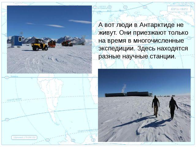 Евразия . А вот люди в Антарктиде не живут. Они приезжают только на время в м...