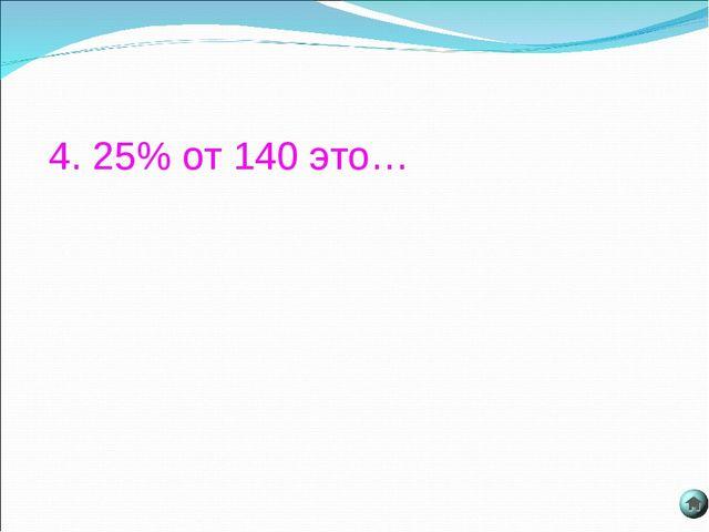4. 25% от 140 это…