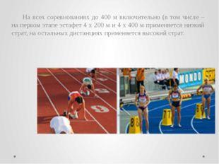 Бег с барьерами Следующие дистанции являются стандартными: мужчины и юноши –
