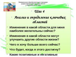 Шаг 4 Анализ и определение ключевых областей Изменения в какой области для ме
