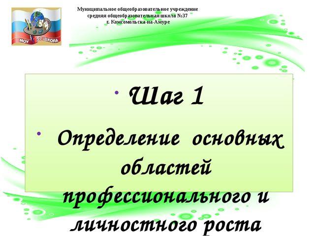 Шаг 1 Определение основных областей профессионального и личностного роста пед...