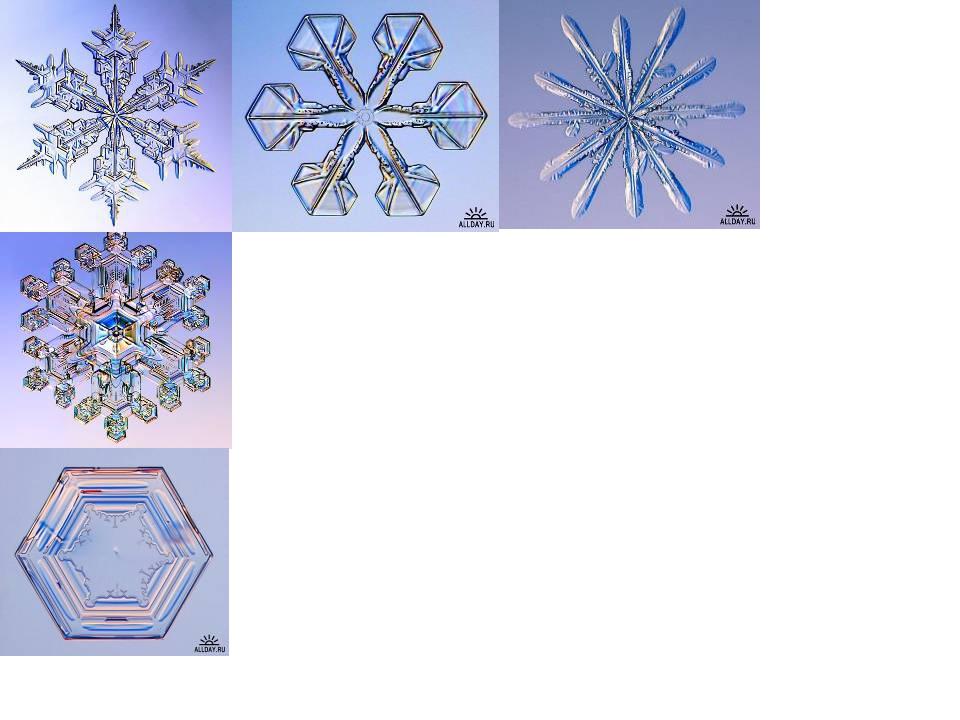 Снежинка – это группа кристалликов, образованная более чем из двухсот ледяных...