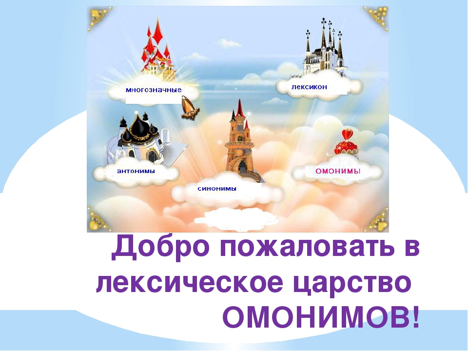 Добро пожаловать в лексическое царство ОМОНИМОВ!