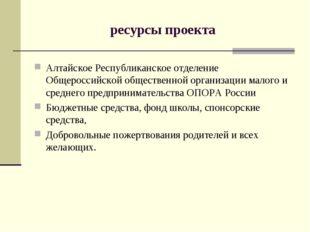 ресурсы проекта Алтайское Республиканское отделение Общероссийской общественн