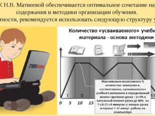 В УМК Н.В. Матвеевой обеспечивается оптимальное сочетание научного содержания