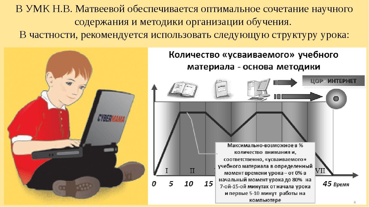В УМК Н.В. Матвеевой обеспечивается оптимальное сочетание научного содержания...