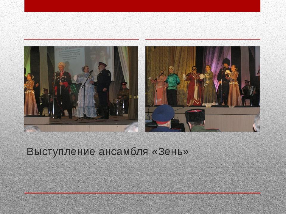 Выступление ансамбля «Зень»