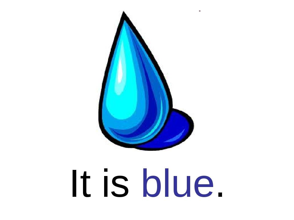 It is blue.