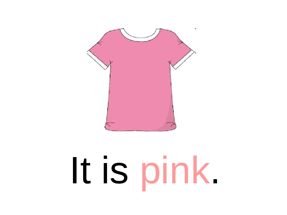 It is pink.