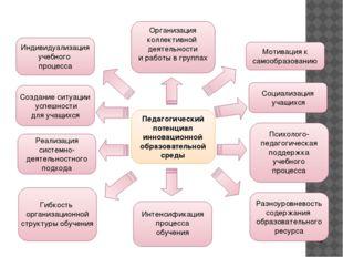 Педагогический потенциал инновационной образовательной среды Организация кол