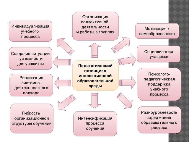 Педагогический потенциал инновационной образовательной среды Организация кол...