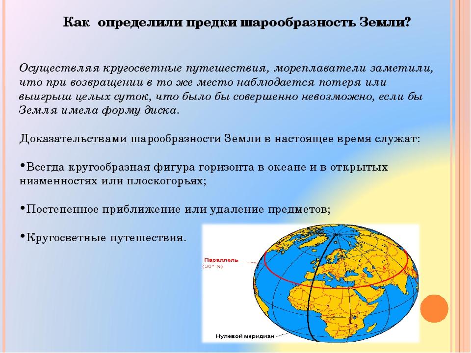Как определили предки шарообразность Земли? Осуществляя кругосветные путешест...
