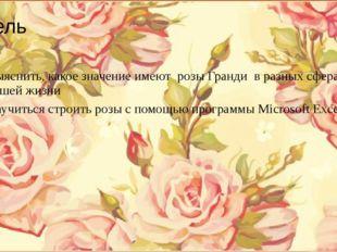 Цель Выяснить, какое значение имеют розы Гранди в разных сферах нашей жизни