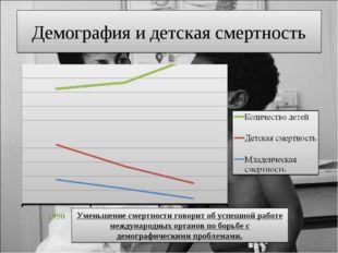 Демография и детская смертность Уменьшение смертности говорит об успешной раб