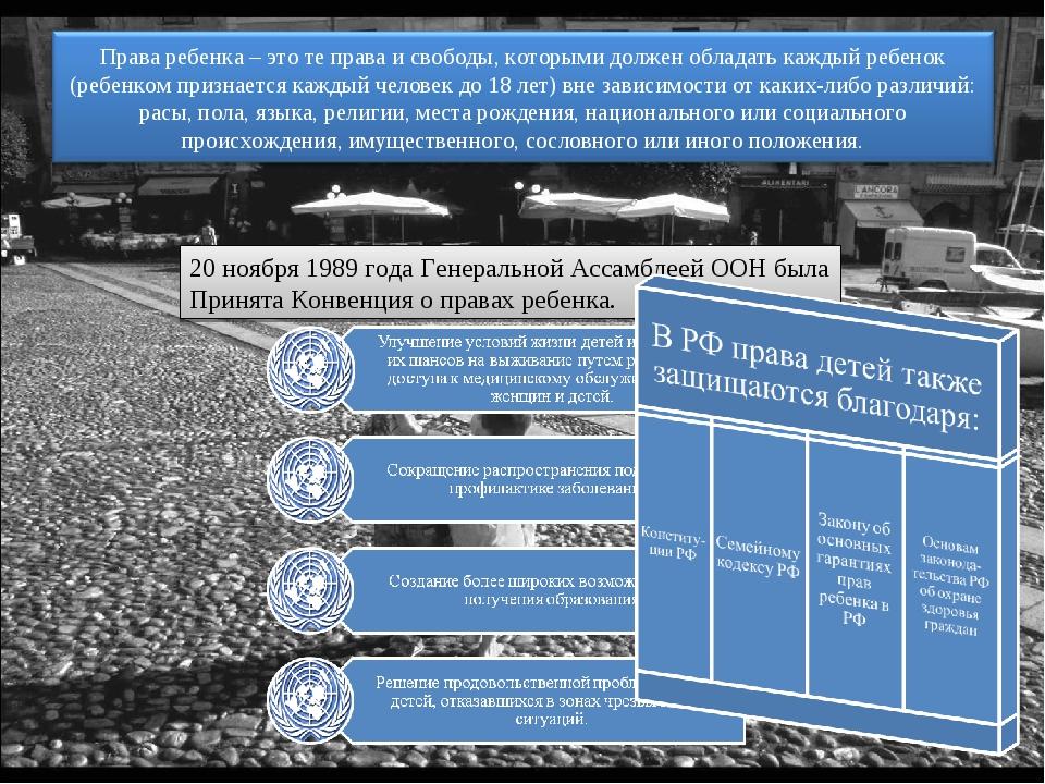 20 ноября 1989 года Генеральной Ассамблеей ООН была Принята Конвенция о права...