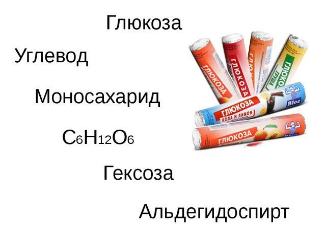 C6H12O6 Глюкоза Углевод Моносахарид Гексоза Альдегидоспирт
