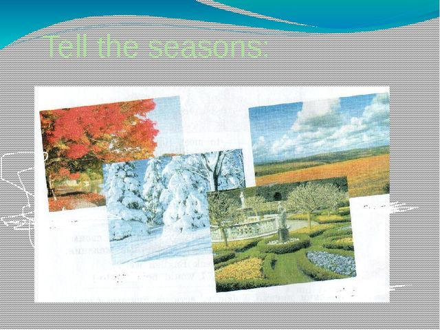 Tell the seasons:
