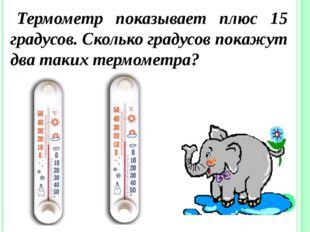 Термометр показывает плюс 15 градусов. Сколько градусов покажут два таких тер