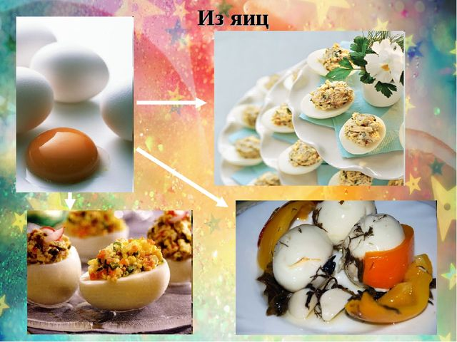 Из яиц