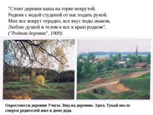 """""""Стоит деревня наша на горке некрутой. Родник с водой студеной от нас подать"""