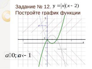 Задание № 13. Постройте график функции