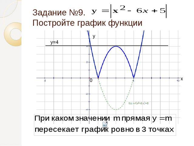 Задание №10. Постройте график функции х у 0 у=5 у=-4