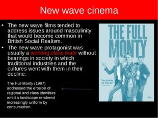 New wave cinema The new wave films tended to address issues around masculinit