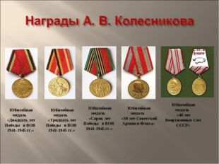 Юбилейная медаль «Двадцать лет Победы в ВОВ 1941-1945 гг.» Юбилейная медаль
