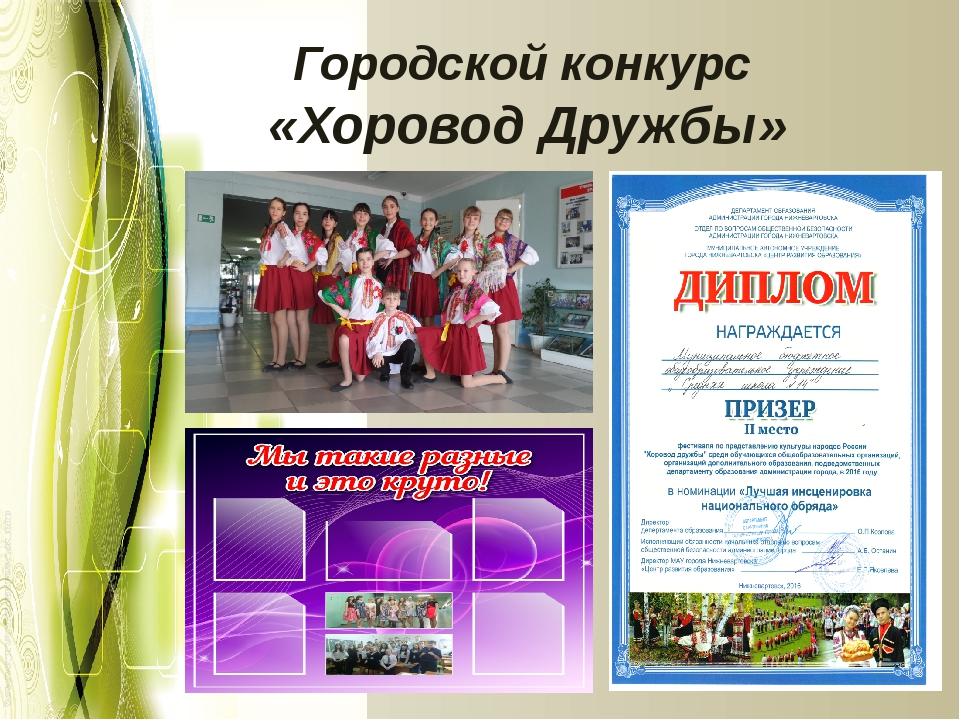 Городской конкурс «Хоровод Дружбы»