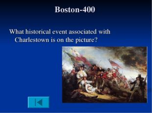Boston-400 What historical event associated with Charlestown is on the picture?
