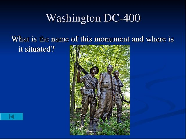 Washington DC-400 What is the name of this monument and where is it situated?
