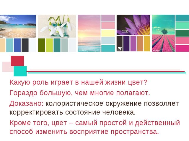 Какую роль играет в нашей жизни цвет? Гораздо большую, чем многие полагают. Д...