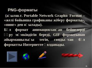 * (ағылш.т. Portable Network Graphic Format – «желі бойынша графиканы жіберу
