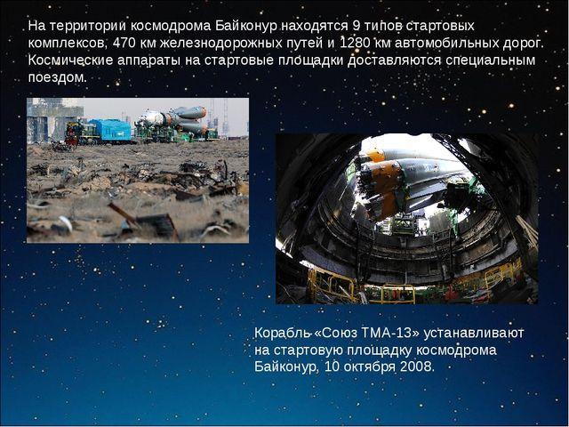 На территории космодрома Байконур находятся 9 типов стартовых комплексов, 470...