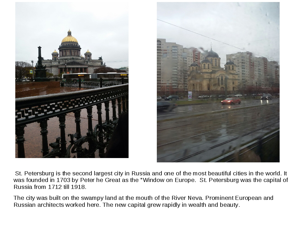 St. Petersburg is the second largest city in Russia and one of the most beau...
