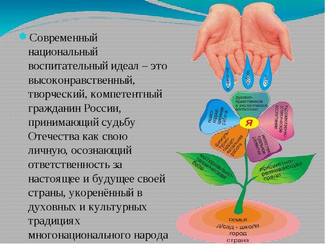 Современный национальный воспитательный идеал – это высоконравственный, творч...
