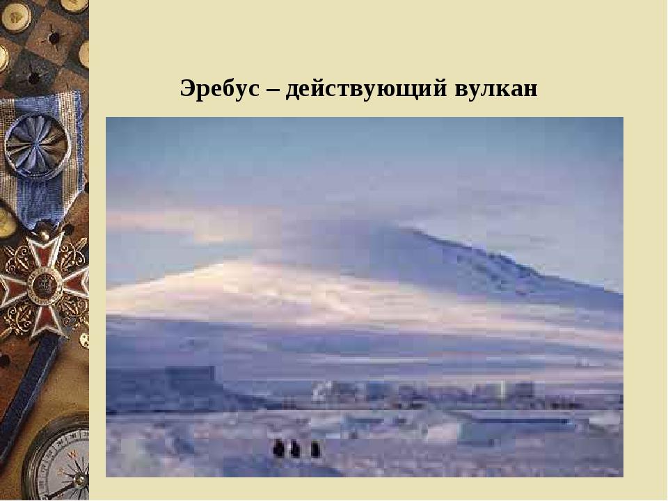 Эребус – действующий вулкан