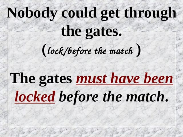 Nobody could get through the gates. (lock/before the match ) The gates must h...