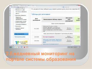 2.Ежедневный мониторинг на портале системы образования