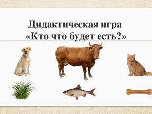 Дидактическая игра «Кто что будет есть?»
