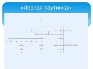 «Лесная паутинка» 5 г у 2 1 с 3 м о х б е р е з а 7 н с 6 м у р а в ь и л ы ц