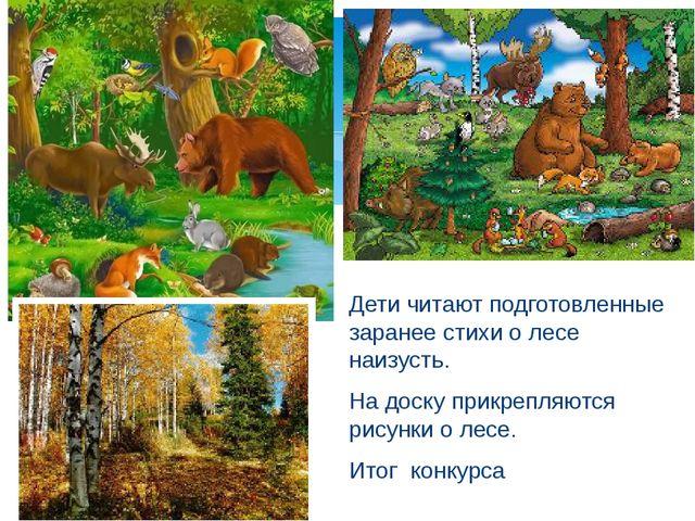 Дети читают подготовленные заранее стихи о лесе наизусть. На доску прикрепля...