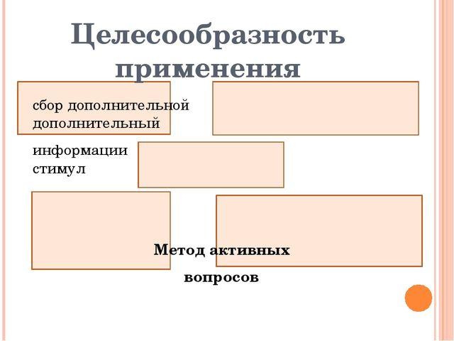 Целесообразность применения сбор дополнительной дополнительный информации ст...