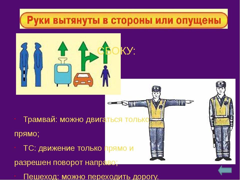 Со стороны груди– движение всех ТС разрешено только направо